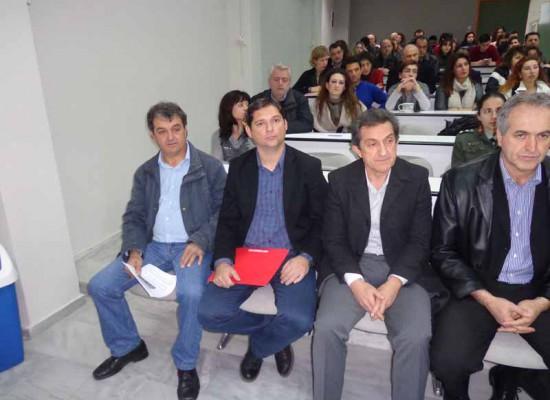 Ο αντιδήμαρχος κ. Αγγελόπουλος στην εκδήλωση για τα 20 χρόνια της κτηνιατρικής