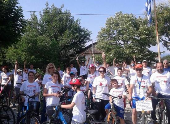 «Ποδηλατοβόλτα» για την ανάδειξη της εθελοντικής αιμοδοσίας στο Μελισσοχώρι