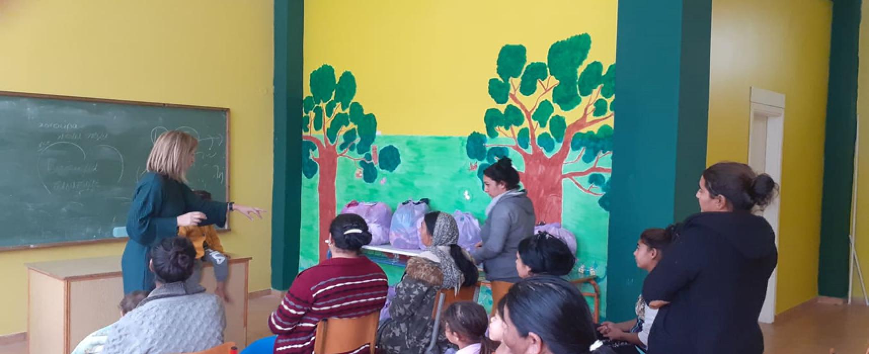 Δράσησυμβουλευτικής σχολικής φοίτησης, εμβολιασμού ατομικής υγιεινής και διανομή ειδών παιδικού ρουχισμού στο Παράρτημα Ρομά Σοφάδων